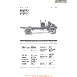 Kelly Springfield One And One Half Ton Truck K30 Fiche Info 1916