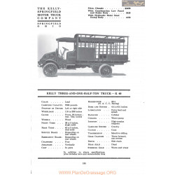 Kelly Springfield Three And One Half Ton Truck K40 Fiche Info Mc Clures 1917