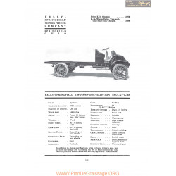 Kelly Springfield Two And One Half Ton Truck K35 Fiche Info 1919