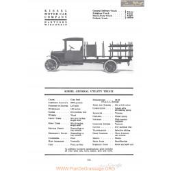 Kissel General Utility Truck Fiche Info 1920