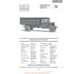 Kissel Heavy Duty Truck Fiche Info 1920