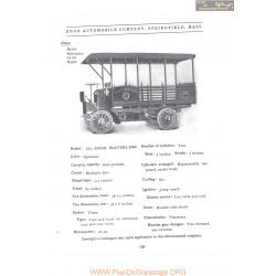 Knox Model 102 Waterless Fiche Info 1907