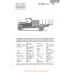 Nash Jeffery One And Half Ton All Purpose Truck Fiche Info 1917