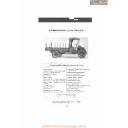 Palmer Moore 3 4 Ton Truck K Fiche Info 1916