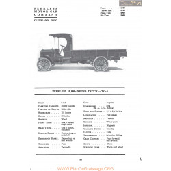 Peerless 10000 Pound Truck Tc5 Fiche Info Mc Clures 1917
