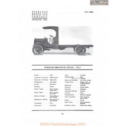 Peerless 4000 Pound Truck Tc2 Fiche Info 1917
