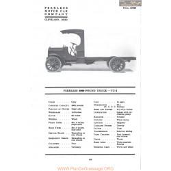 Peerless 4000 Pound Truck Tc2 Fiche Info Mc Clures 1917
