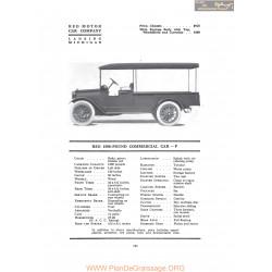 Reo 1500 Pound Commerciel Car F Fiche Info 1917