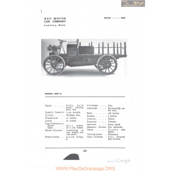 Reo H Fiche Info 1912