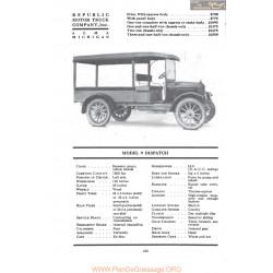 Republic Model 9 Dispatch Fiche Info 1917