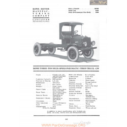 Rowe Three Ton High Speed Pneumatic Tired Truck Gw Fiche Info 1920