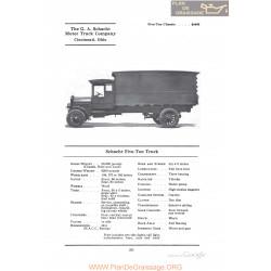 Schacht Five Ton Truck Fiche Info 1922