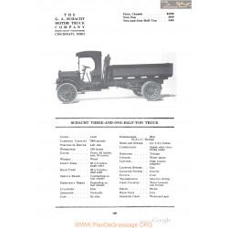 Schacht Three And One Half Ton Truck Fiche Info 1918