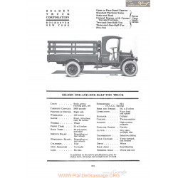 Selden One And One Half Ton Truck Fiche Info 1920