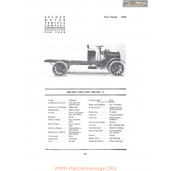 Selden One Ton Truck T Fiche Info 1916