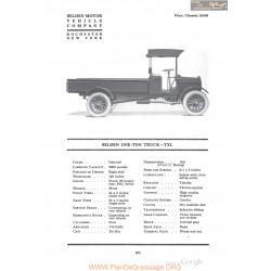 Selden One Ton Truck Txl Fiche Info 1918