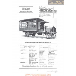 Selden Three And One Half Ton Truck A Fiche Info 1922