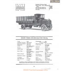 Selden Three And One Half Ton Truck Fiche Info 1920