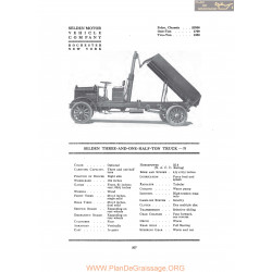 Selden Three And One Half Ton Truck N Fiche Info 1917