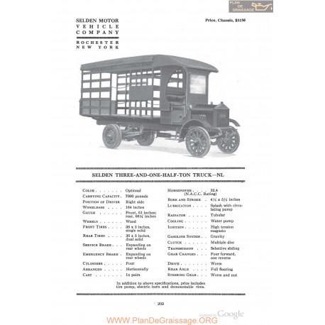 Selden Three And One Half Ton Truck Nl Fiche Info 1918