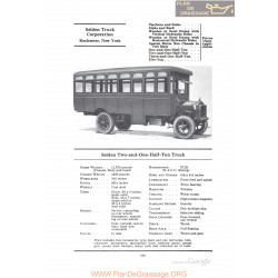 Selden Two And One Half Ton Truck Fiche Info 1922