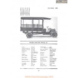 Selden Two Ton Truck Jc Fiche Info 1916