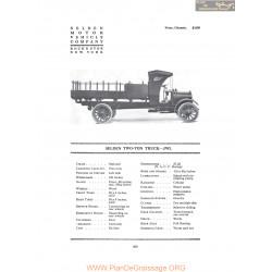 Selden Two Ton Truck Jwl Fiche Info 1916