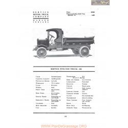 Service Five Ton Truck 101 Fiche Info 1919