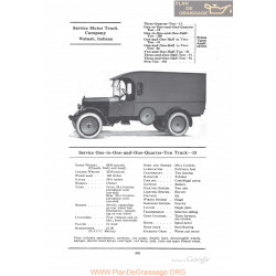 Service One To One And One Quarter Ton Truck 15 Fiche Info 1922
