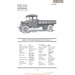 Service Two And One Half Ton Truck 51 Fiche Info 1920