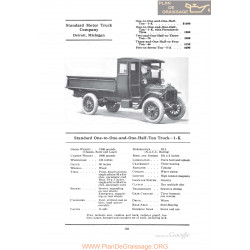 Standard One To One And One Half Ton Truck 1k Fiche Info 1922
