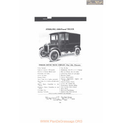 Sterling 1500 Pound Truck Fiche Info Mc Clures 1916