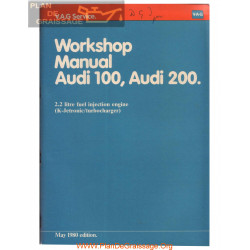 Audi 100 200 2200 K Jetronic Turbo Workshop Manual