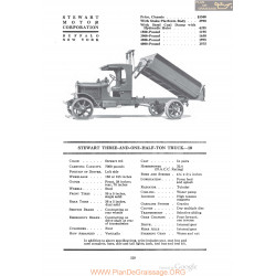 Stewart Three And One Half Ton Truck 10 Fiche Info 1920