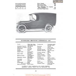 Studebaker 1000 Pound Commercial Car Fiche Info 1917