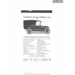 Studebaker 1000 Pound Commercial Car Sf Fiche Info Mc Clures 1916