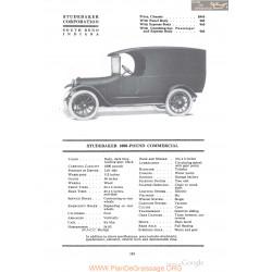 Studebaker 1000 Pound Commercial Fiche Info 1918