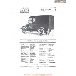 Vim Half Ton De Luxe Delivery Fiche Info 1916