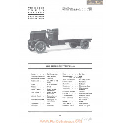 Vim Three Ton Truck 23 Fiche Info 1918