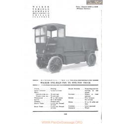 Walker One Half Ton To Five Ton Truck Fiche Info 1917