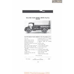 Walter Four Wheel Drive Five Ton Truck Fiche Info Mc Clures 1916
