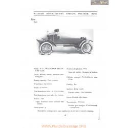 Waltham Dc Deliery Fiche Info 1907