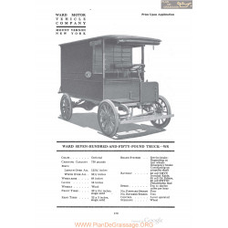 Ward Seven Hundred And Fifty Pound Truck Ws Fiche Info 1920