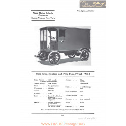 Ward Seven Hundred And Fifty Pound Truck Ws2 Fiche Info 1922