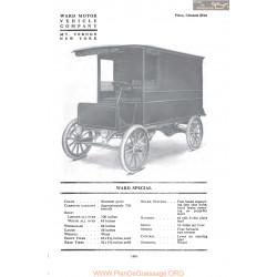 Ward Special Fiche Info 1917