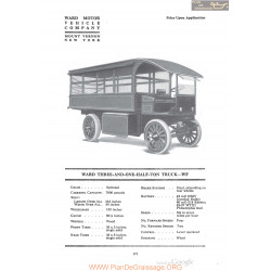 Ward Three And One Half To Truck Wf Fiche Info 1920