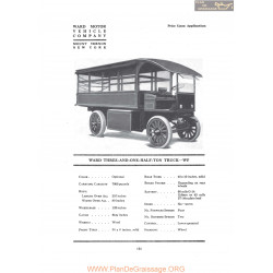 Ward Three And One Half Truck Wf Fiche Info 1919