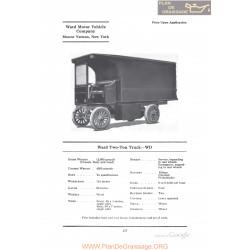 Ward Two Ton Truck Wd Fiche Info 1922