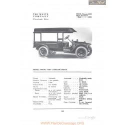 White Cbe Gasoline Truck Fiche Info 1912