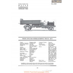 White Five Ton Power Dumping Truck 45d Fiche Info 1920